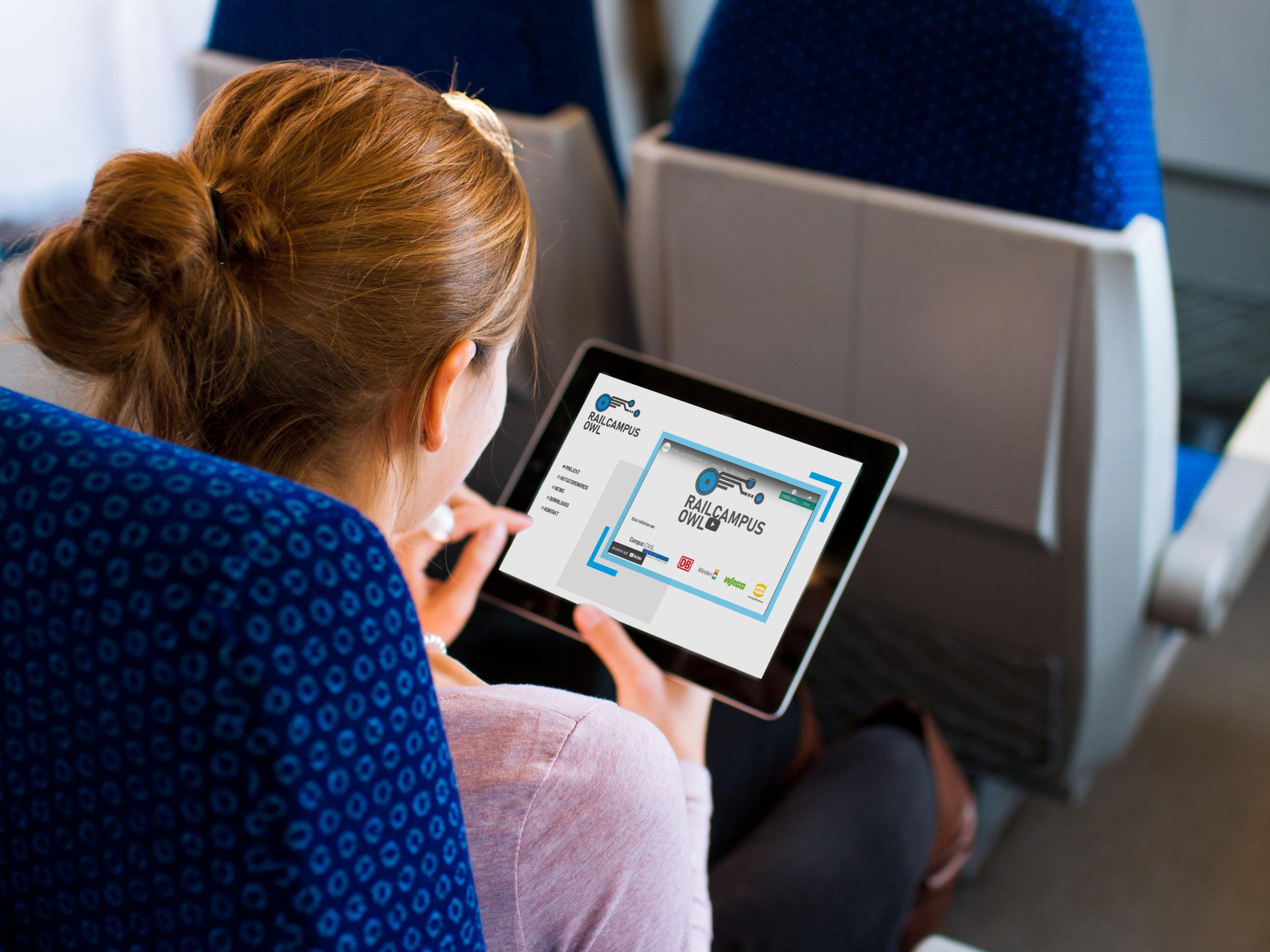 Homepage RailCampus auf iPad
